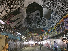 Leake St. Tunnel (Englepip) Tags: zabou leakest waterloo tunnel grafitti art street mural light dark contrasts silhouettes people london 2016 englepip photo group walk