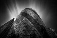 Gherkin (vulture labs) Tags: longexposure london vulturelabs wwwvulturelabsphotography workshop gherkin architecture fineart photography blackandwhite bw zeiss nikon art city clouds cityoflondon