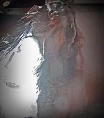 2016-08-22 portrait soluble (1)f (april-mo) Tags: soluble portrait experimentaltechnique experimental creative foil distortions reflection art woman womanportrait monochrome solubleportrait