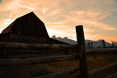 Mormon Row (joshcheckers) Tags: mormonrow tetons tetonnationalpark sunset jackson jacksonhole wyoming farm nikon nikon5500 longexposure filter outdoors