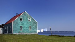 Green Red and Blue (Danny VB) Tags: house green red blue beach ocean sea gaspesie quebec canada canon