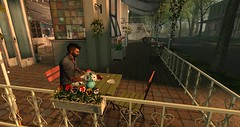 Stood Up (The Gentleman Dystopic) Tags: secondlife crestwick city cafe town unedited
