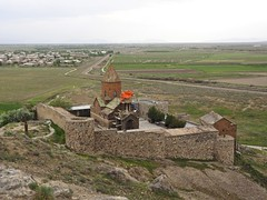 Khor Virap Monastery, Armenia (Clay Gilliland) Tags: armenia khorvirap orthodox monastery youngpioneertours border church ararat saintgregory holymother chapel