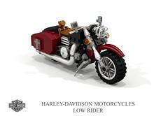 Harley-Davidson Low Rider (lego911) Tags: harleydavidson harley davidson low rider motorcycle motorbike bike v2 vtwin moc model miniland lego lego911 ldd render cad povray lugnuts challenge 107 saturdaymorningshownshine saturday morning show n shine usa america chopper foitsop