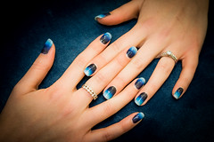 Nail Artistry (jasonclarkphotography) Tags: sony a6000 emount jasonclarkphotography nails make makeup shellac blue blended nz canterbury christchurch fashion alpha blues rings jewelery