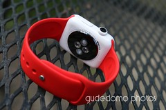 Ceramic Apple Watch with Product RED Sport BandIMG_4387 (gudedomo) Tags: apple ceramic watch applewatch white edition watchband band wrist accessory color combination red product 2016 orange yellow mint green bright pink salmon stand blue baby turquoise navy ocean midnight cocoa mocha nylon metal strap link bracelet milanese loop hermes leather