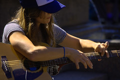 She Plays Only Harmonics (swong95765) Tags: woman female lady musician guitar harmonics amplified busking talented entertainer plucking