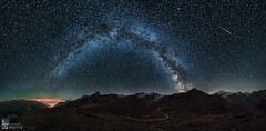 Meteors Show (Edoardo Brotto) Tags: milkyway edoardobrotto stars starrynight starrysky starscape pano panoramic arch vialattea alps mountain
