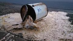 Paint (msmith890) Tags: spillage spill paint tin footpath