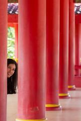Hide and Seek (HansPermana) Tags: semarang indonesia sampookong temple red chinese jateng jawatengah pray holy traditional architecture building