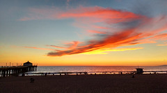 Brush strokes in the sky (florianpix) Tags: sunset water beach dawn dusk evening seashore summer light outdoors landscape sun ocean sky sand pier sea seascape travel los angeles