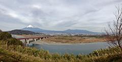 Happy New Year Mt. Fuji (Panorama) (only1tanuki) Tags: panorama japan geotagged mtfuji fujikawa iphone fujicity shizuokaprefecture