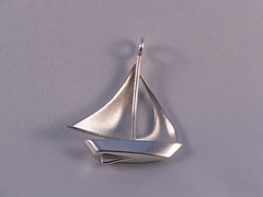 Sailboat pendant (roofoofighter) Tags: sailboat silver boat 3d sailing jewelry printing sail sterling printed pendant