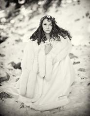 A portrait of Sarah (Carolyn Hampton) Tags: snow fur narnia cape soulscapes sarahannloreth lafg2013