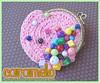 Niqueleirinha com contas coloridas (Caramelo :: Artesanatos) Tags: vovo crochet artesanal amigurumi linha chaveiro croche caramelo metalico fecho niqueleira