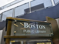 Information Desk at the BPL (AntyDiluvian) Tags: sign boston massachusetts atrium informationdesk bostonpubliclibrary backbay copleysquare bpl boylstonstreet