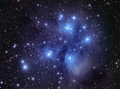 M 45 (astrochuck) Tags: stars space cluster astrophotography m45 astronomy taurus pleiades qhy9m