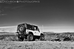 DefenderCountryOutlook (Lunchbox PhotoWorks) Tags: road new west green rio mexico four high nikon desert 4x4 country albuquerque convertible rover off tokina abq land british 1995 d200 lunchbox nm 90 mesa wheeling rancho 1224 manfrotto defender manufacturer rovers puerco d90 photoworks laning