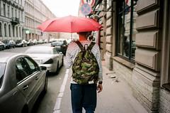 rain (f x d b b b t) Tags: travel friends summer kodak russia olympus camo backpack saintpetersburg portra camoflauge mjuii 2012 woodwood iso160 mju2 μmjuii nanamica