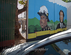Jamaica-MoBay-Downtown-6350 (alison.toon) Tags: city copyright town mural downtown photographer jamaica hero heroes montegobay alisontoon