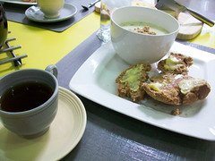 Irish Lunch (GrantJantzen) Tags: ireland irish potatoleeksoup brownbread breakfasttea