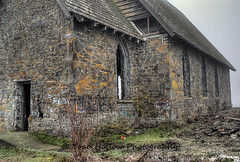 Old Stone Butter Church  Cowichan Valley, BC, Canada (Toad Hollow Photography) Tags: original mist mountain canada heritage history abandoned church fog stone architecture dark landscape scary mood bc empty ripleys haunted vancouverisland forgotten ghosts decrepit duncan hdr forlorn cowichan urbex historicsite believeitornot cowichanvalley desecrated rurex oldstonebutterchurch butterchurch