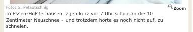 """Unfassbar: Schnee in Essen zeigt sich uneinsichtig und schneit einfach weiter • <a style=""""font-size:0.8em;"""" href=""""http://www.flickr.com/photos/77921292@N07/8455510452/"""" target=""""_blank"""">View on Flickr</a>"""