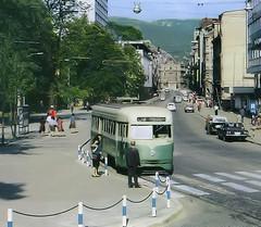 Pictures of a postcard - Yugoslavia (Bosina Herzegovina) - Sarajevo (railasia) Tags: sarajevo postcard tram sixties pcc