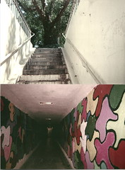 (Ethan_Whyes) Tags: trees plants mural stair entrance tunnel well urbanexploration walkway portal exit dimension