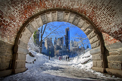 Inscope Arch - Central Park, New York (BrianEden) Tags: nyc winter snow ny newyork cold brick skyline frozen centralpark manhattan freezing inscopearch