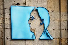 Mlancolie / Melancholy (patoche21) Tags: blue streetart france nikon modernart bleu rue 52 d300 artmoderne hautemarne 18200mm langres champagneardennes capturenx2 patrickbouchenard