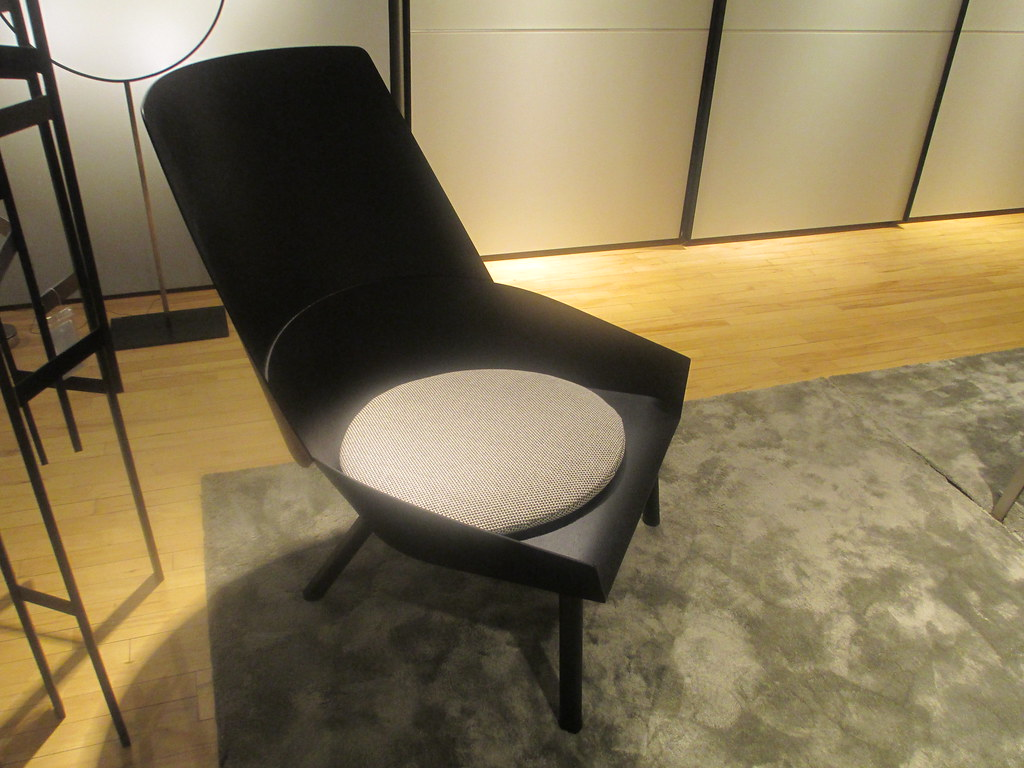 Eugene Lounge Chair In Jet Black By Stephan Diez For @e15_furniture Seen At  @Luminaire