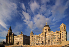 Give me Grace..... (Chrisconphoto) Tags: liverpool canon mood threegraces bigsky pierhead merseyside goodlight