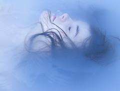 (AubieG) Tags: blue portrait selfportrait color water death pastel ethereal conceptual strobe nostrobistinfo removedfromstrobistpool seerule2