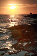 Sunset at the coast (-Filippos-) Tags: sunset sea sun coast ship cyprus shore 5d wreck paphos pafos kypros    chloraka