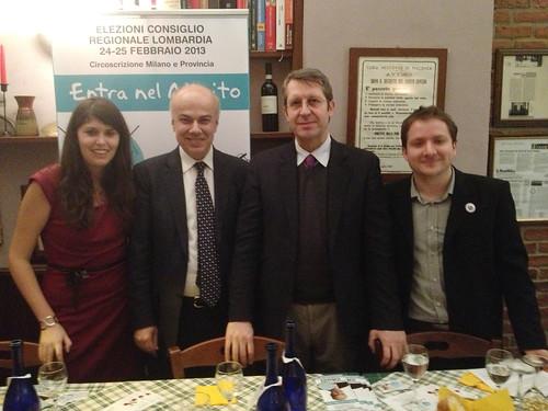 Edoardo Croci con Benedetto Dalla Vedova, Elisa Serafini di Alleanza dei Contribuenti e Giacomo Zucco di Tea party Italia