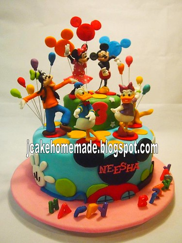 Swell Mickey Mouse Clubhouse Birthday Cake A Photo On Flickriver Personalised Birthday Cards Veneteletsinfo