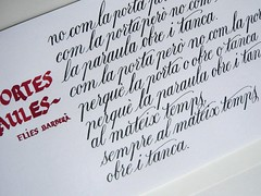 De portes i paraules (xelo garrigs) Tags: poetry letters calligraphy copperplate letras caligrafa poema inglesa calligrafia humanstica