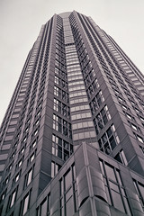 Frankfurt Messeturm (Mr Ris) Tags: bw white black tower architecture germany nikon kodak iso400 frankfurt fair exhibition boring analogue ans melancholia fairtower kodal af501