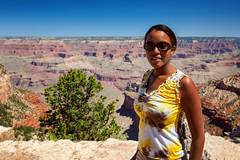 A Trini in the Grand Canyon (ModernDayGilligan) Tags: arizona usa grandcanyon avi trinidadian thegrandcanyon thewife summervacation2011