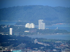 Likas Bay View From Kokol Hill (thienzieyung) Tags: morning travel blue windows sea terrain eye water birds buildings islands bay coast construction view bend horizon places villages aerial hills roofs jungle views malaysia tropical kotakinabalu suburbs geography range sabah condominium crocker condominiums highrises bukit overview ridges slopes inwards likas clearings banjaran kokol thienzieyung kampungbambangan
