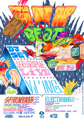 Flyer Ink'n'Beat Party 3 (Pierre BOLIDE) Tags: bolide drawing pierre space marker bassroom cagibi wellatribe inknbeat