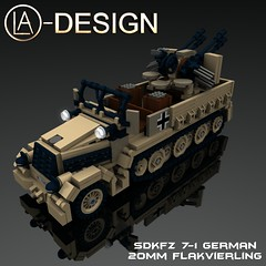 LEGO Custom German WW2 CAMO SdKfz 7-1 Flak 38 0 (LA-Design2012) Tags: 1 tank lego wwii 7 sd german ww2 instructions pdf 20mm custom xml armored flak 38 panzer moc kfz sdkfz bauanleitung ladesign zugkraftwagen flakvierling