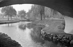 [View of stream through bridge near Lost Lagoon]