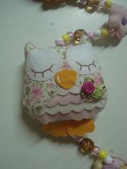 Detalhe da coruja do mbile de cortina da Julia (tatiane_zoo) Tags: beb feltro patchwork corujas tecido