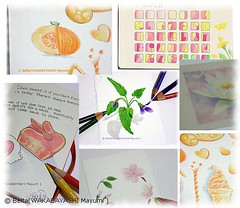 2013_03_02_s (blue_belta) Tags: orange flower art moleskine sketch spring beans calendar drawing violet 花 coloredpencil アート オレンジ 春 色鉛筆 豆 カレンダー スケッチ モレスキン
