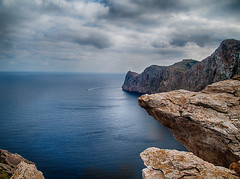 One of the ends of earth (Paco CT) Tags: sea cliff lighthouse landscape faro mar spain cabo agua paisaje cape mallorca esp acantilado formentor 2013 pacoct