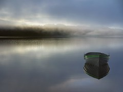 When the boat comes in (explore) (kenny barker) Tags: mist scotland explore trossachs scottishlandscape panasoniclumixgf1 kennybarker