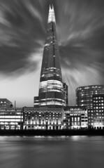 Shard B&W (Jonathan J Scott) Tags: city longexposure london water thames clouds river moody dramatic shard theshard tenstop