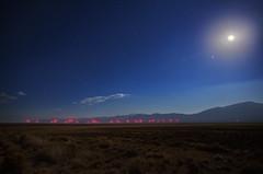 "Moon over a Wind Turbine Farm (IronRodArt - Royce Bair (""Star Shooter"")) Tags: nightphotography sky moon night stars evening energy nightscape desert nevada moonlight nightsky windfarm windturbines greenenergy easternnevada"